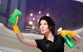 Как правильно мыть натяжные потолки, и что категорически нельзя делать