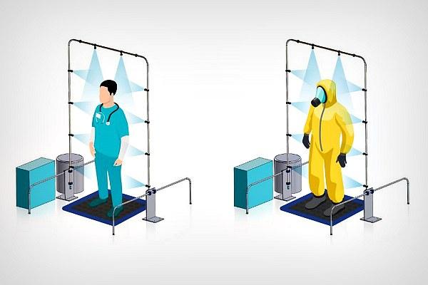 Схема работы рамки для дезмнфекции
