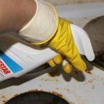Спрей Homestar применение для грязной плиты